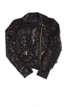 USED Rock & Republic Women's Jacket Small Black & Gold