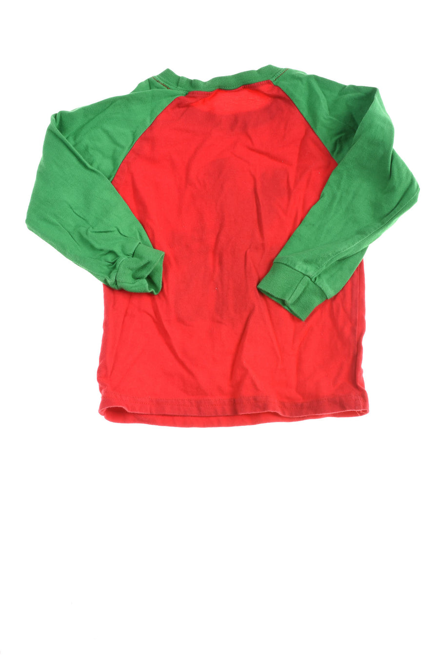 USED Baby Snow Toddler Christmas Shirt 4T Red & Green