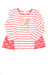 NEW The Children's Place Toddler Girl's Top 5T Red, White, & Gold