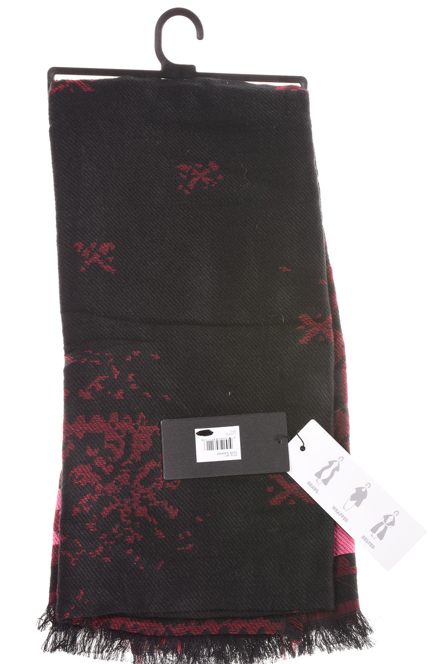 NEW Modena Women's Scarf One Size Black, Pink, & Red
