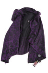 NEW Charlie Paige Women's Cape One Size Purple & Black