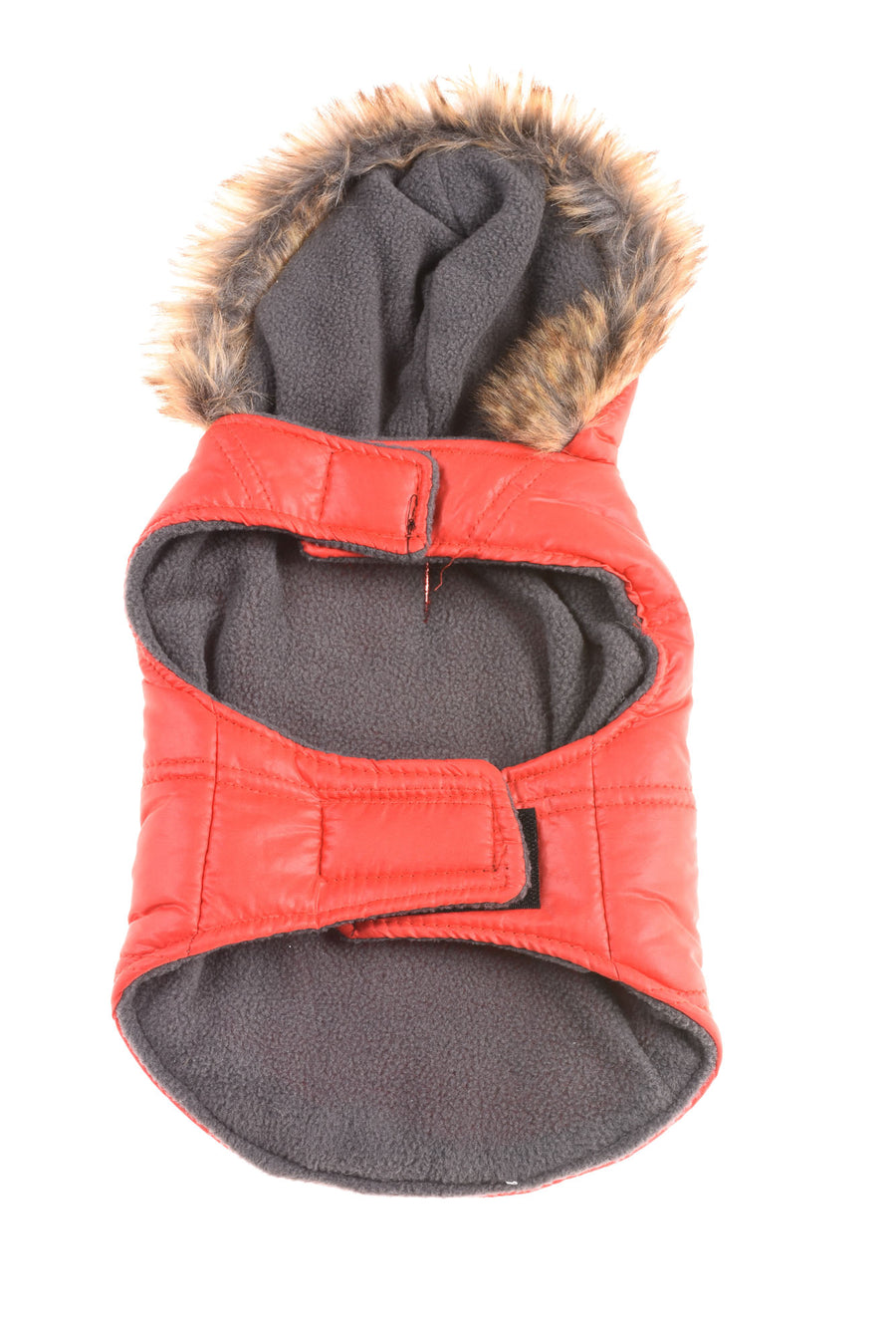 USED Murphy & Roxy Dog Coat Medium Red & Gray