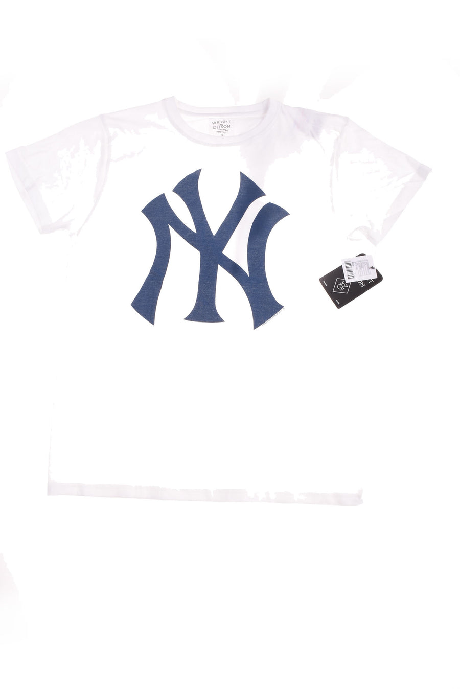 NEW Wright & Ditson Men's New York Yankees Shirt Medium White & Blue