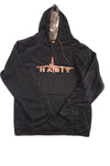 USED Habit Men's Hoodie Medium Black & Orange