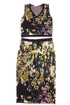 USED Rachel Roy Women's Outift Small Black,Yellow, & Blue