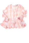 NEW Soho Women's Top X-Large Pink & White