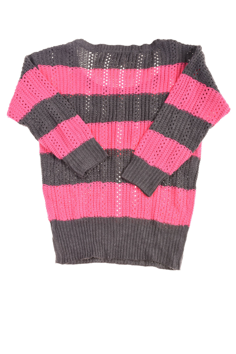 USED Arizona Jeans Women's Sweater Medium Pink & Gray