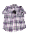 NEW Marx & Dutch Men's Shirt Small Purple, Gray, & White