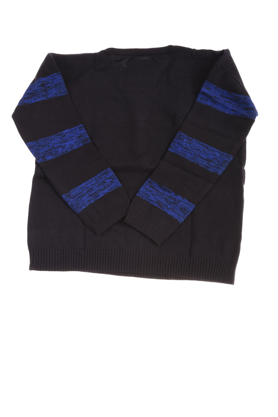 USED We Love Fine Men's Sweater Large Black & Blue