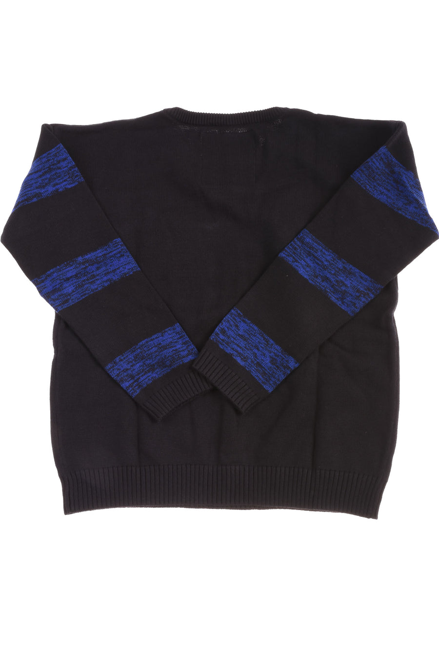 USED We Love Fine Men's Sweater Small Black & Blue