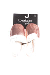 NEW Bebe Girl's Slippers X-Large Rose Gold Tone, White