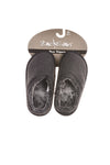 NEW Zac & Evan Boy's Slippers Medium Black & Gray