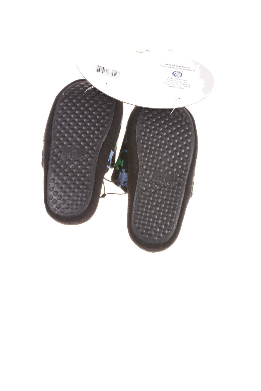 NEW Zac & Evan Boy's Slippers Medium Black