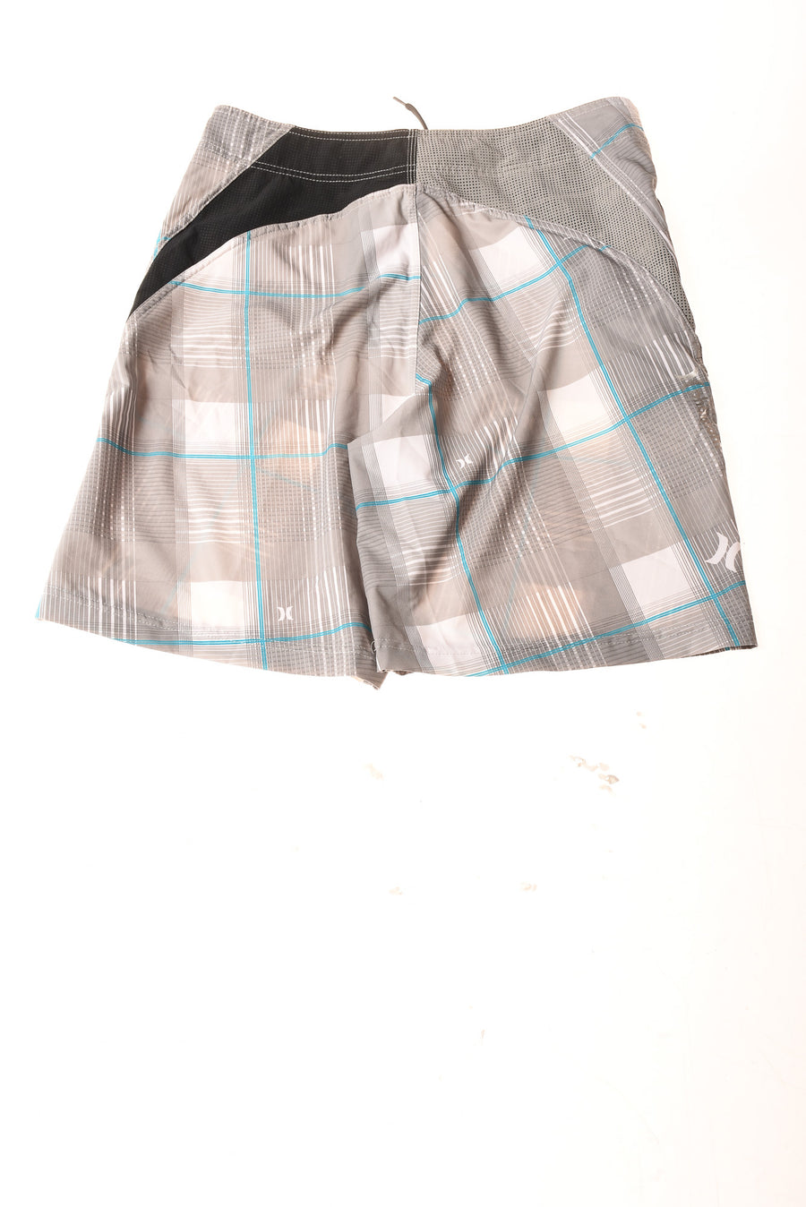 USED Hurley Men's Shorts 32 Gray & White / Plaid