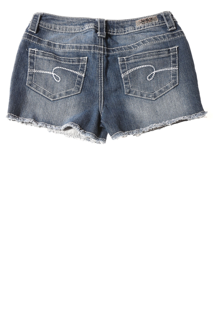 USED Justice Girl's Shorts 12 Blue