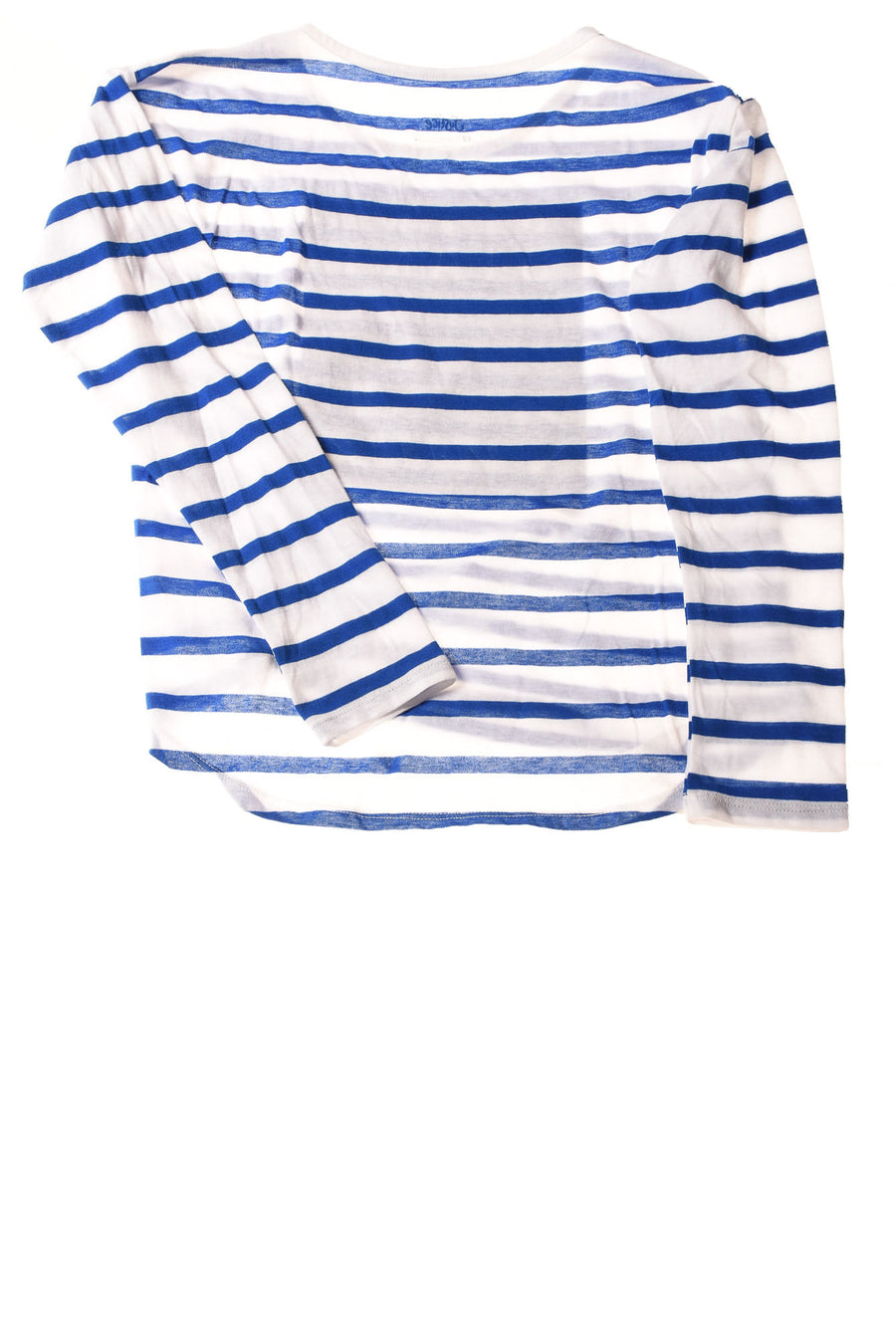 USED Justice Girl's Top  12 Blue & White