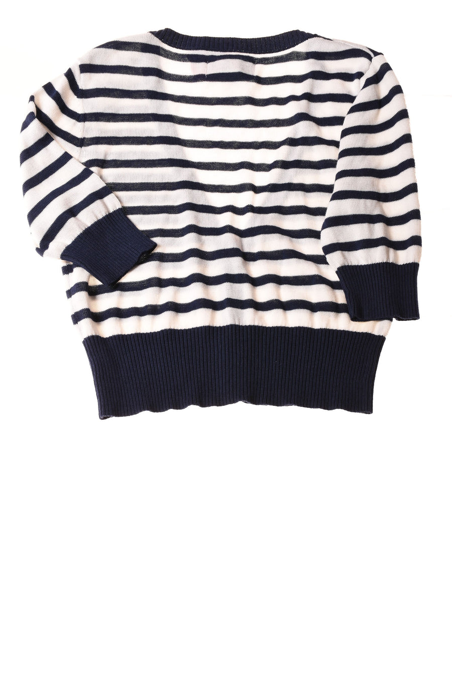 NEW So Girl's Sweater  Large White & Navy / Striped