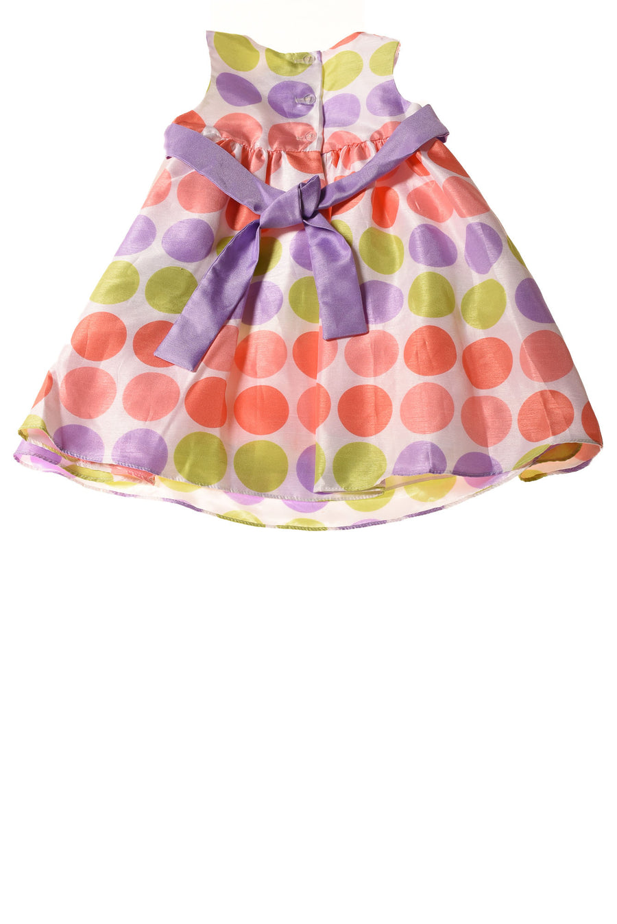 NEW Rare Editions Baby Girl's Dress  18 Months Lilac / Polka Dot Print