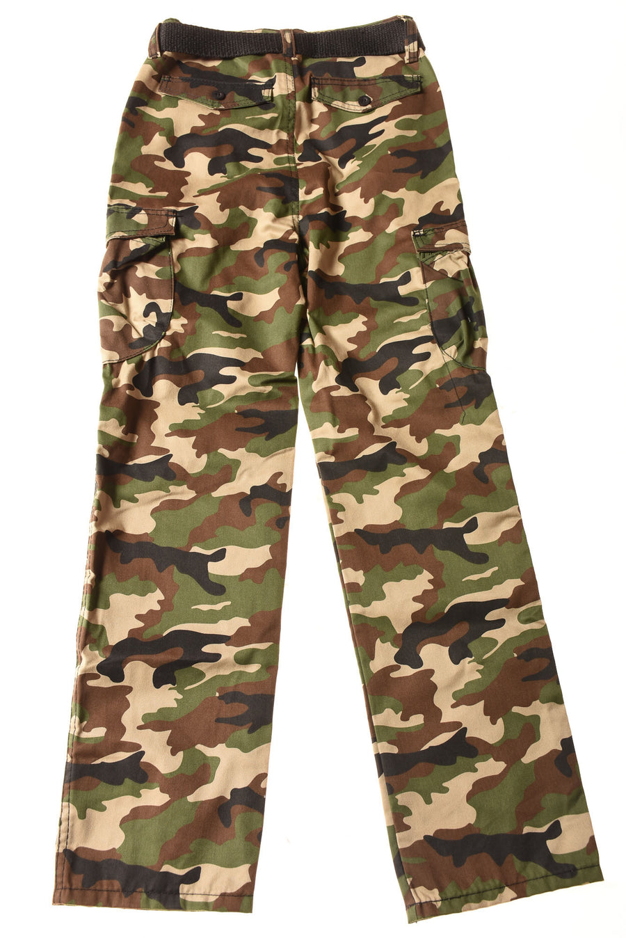 USED Vintage & Cargo Chams Boy's Slacks 18 Green / Camo Print