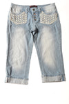 USED No Boundaries Women's Shorts 11 Blue