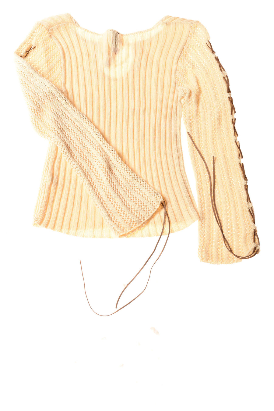 USED Say What Girl's Sweater Small Brown