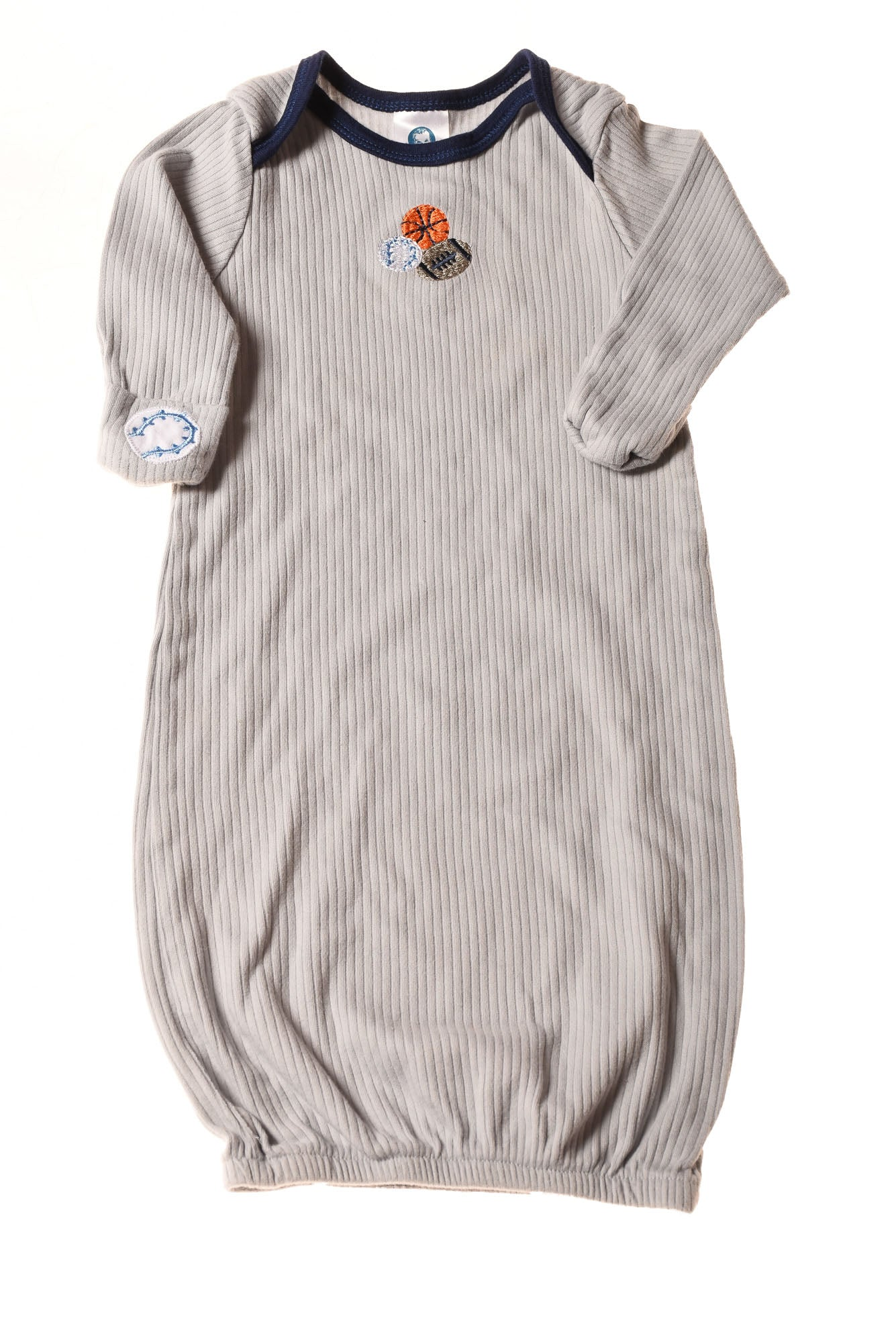 USED Gerber Baby Boy\'s Sleep Gown 0-6 months Gray - Village Discount ...