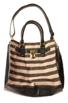 USED No Brand Women's Handbag N/A Black & Tan / Striped