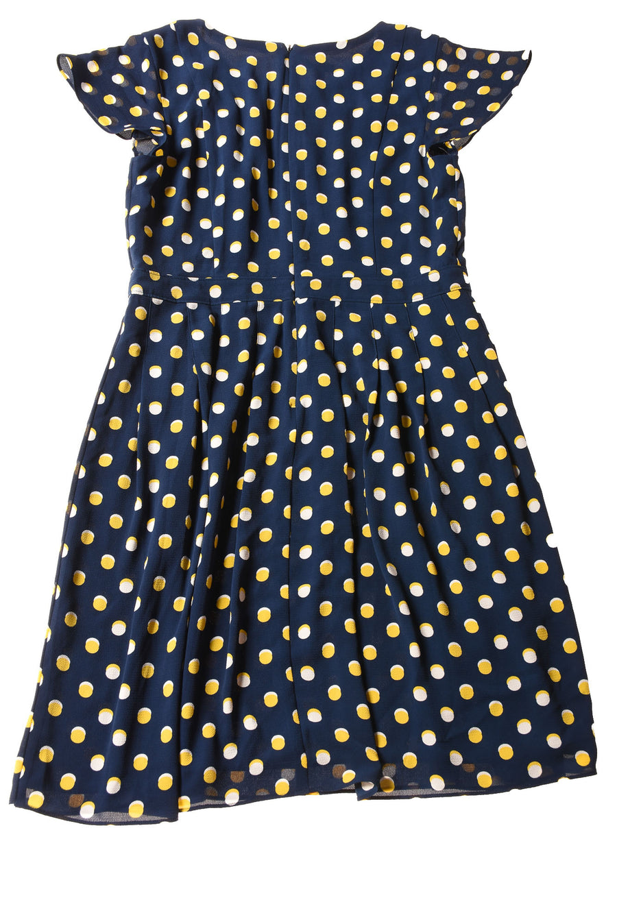 NEW Talbots Women's Petite Dress 12 Navy / Polka Dot