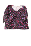 USED Laura Ashley Women's Top X-Large Black / Print