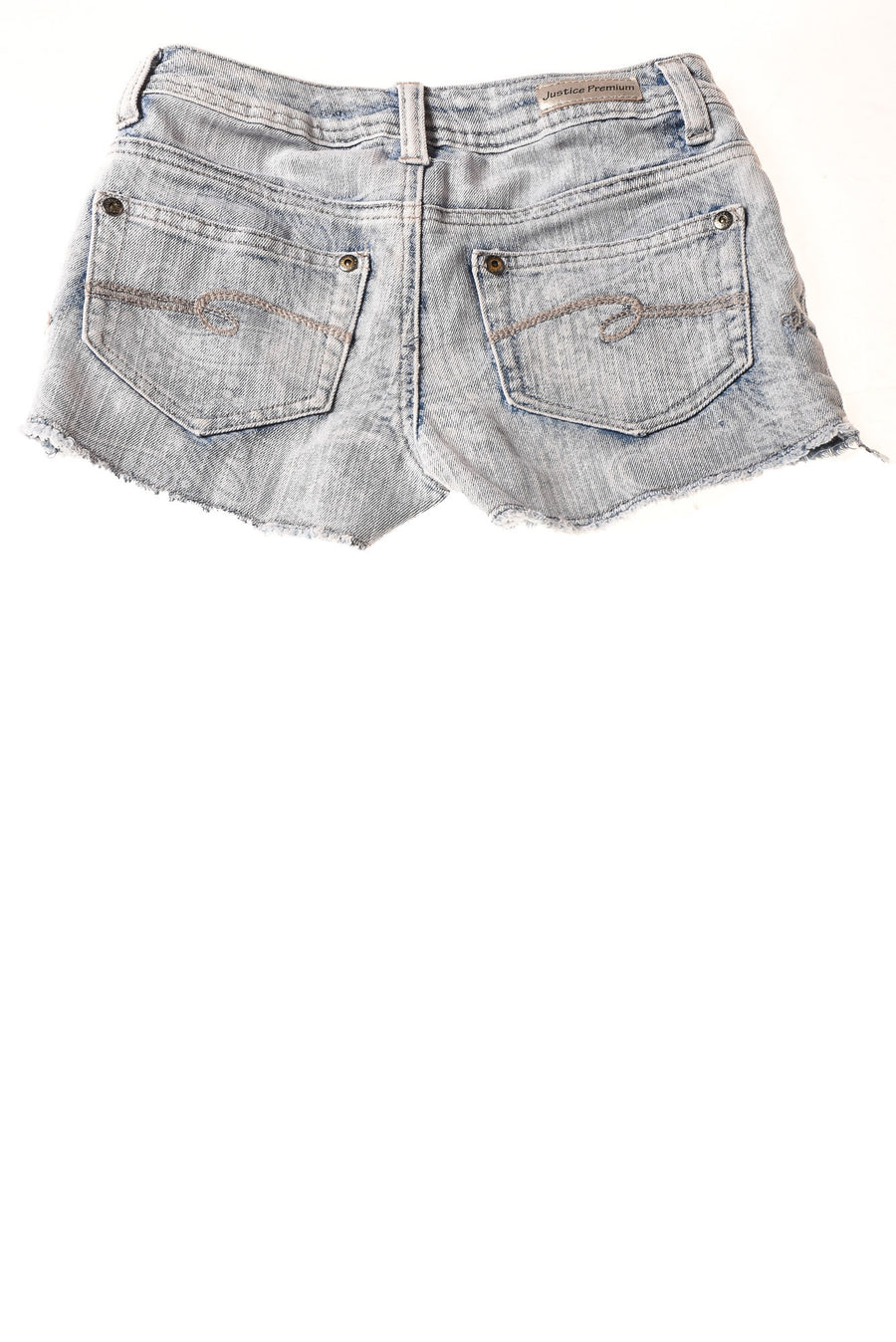 USED Justice Jeans Girl's Shorts 8 Blue & White