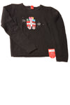 USED Basic Editions Girl's Christmas Sweater X-Large Black