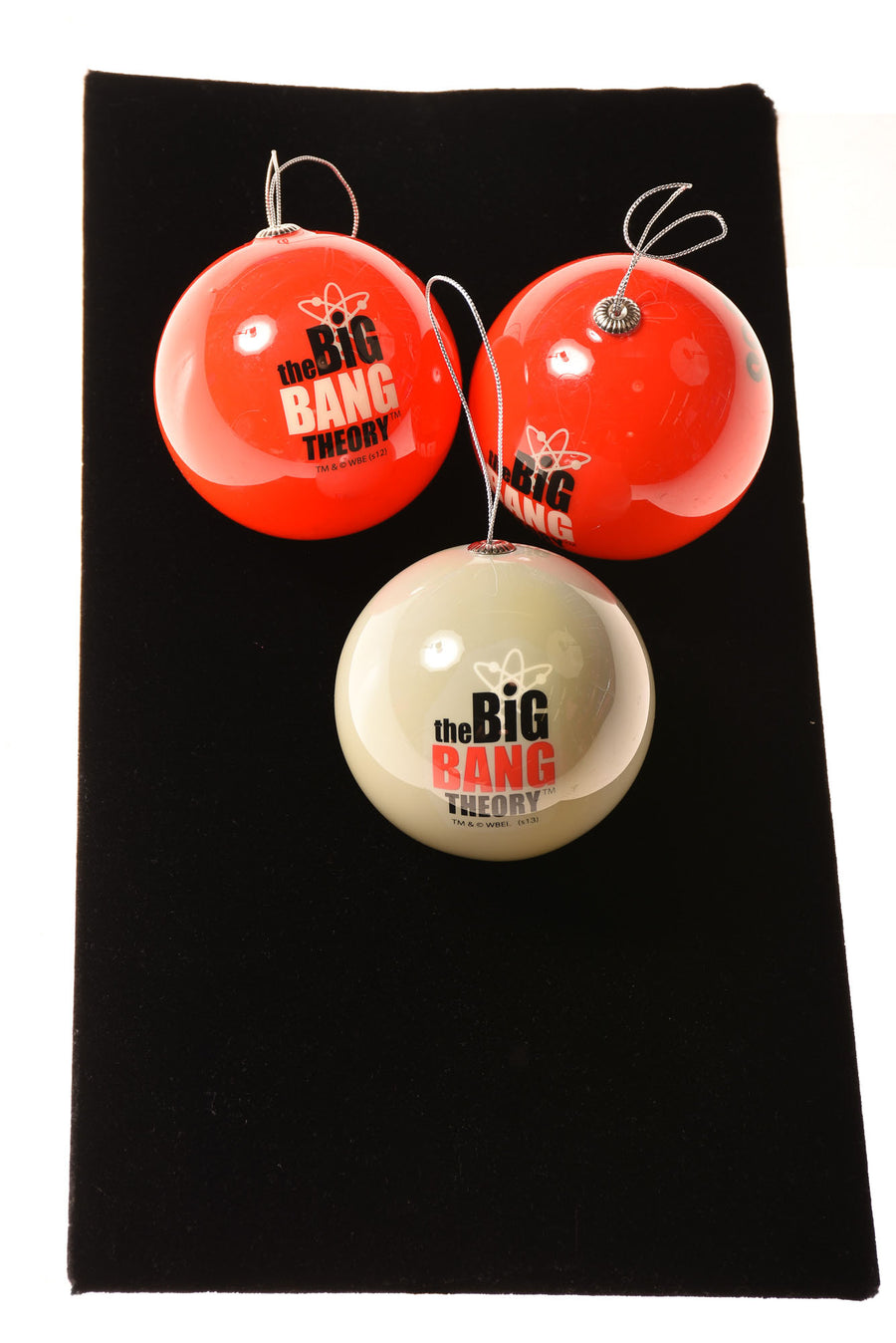 USED No Brand Ornament Set N/A Red & White / Print