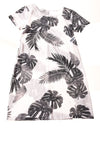 NEW Old Navy Women's Dress Small White & Gray / Print