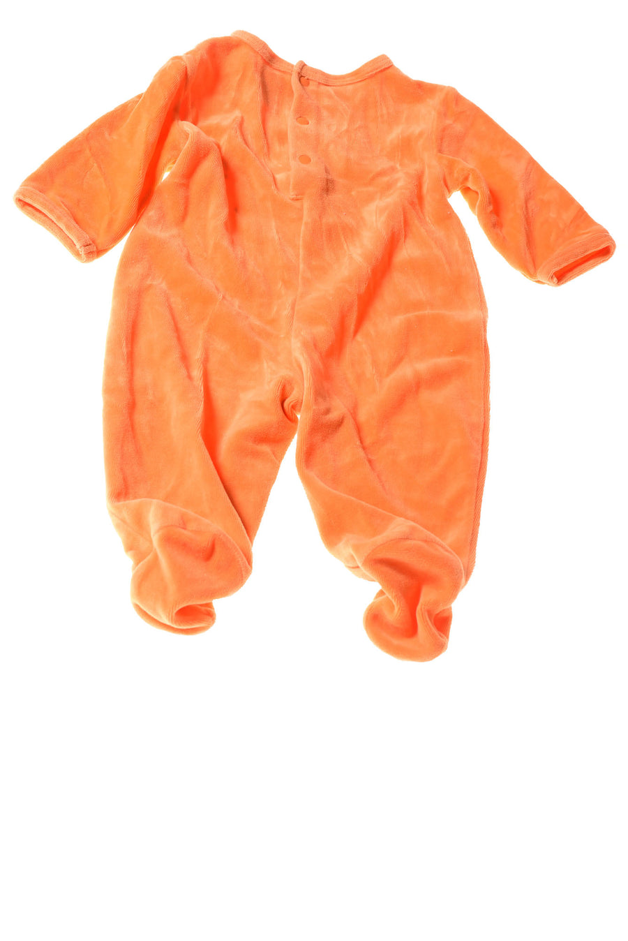 USED Miniwear Baby Girl's Sleeper 3-6 Months Orange / Print