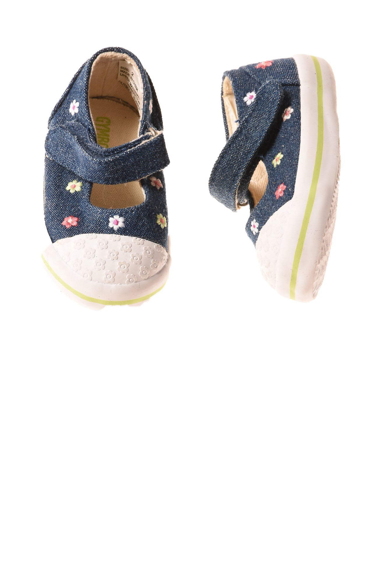 520180d444e2 USED Gymboree Baby Girl s Shoes 2 Blue   Floral - Village Discount ...