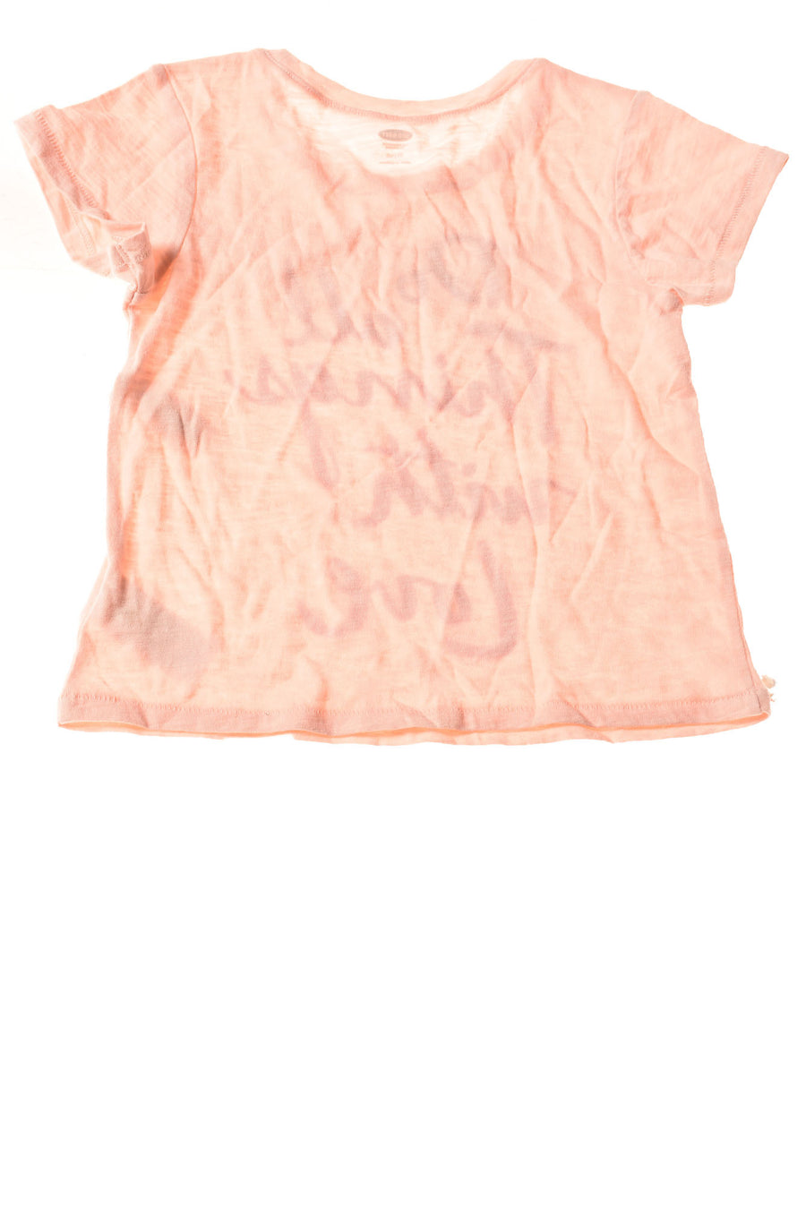 NEW Old Navy Toddler Girl's Top 4T Peach / Print