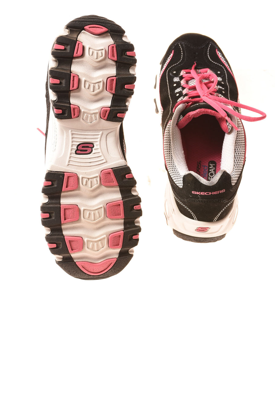 USED Skechers Women's Shoes 10 Black & Pink