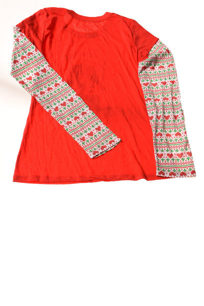USED Peanuts Women's Top X-Large Red / Print