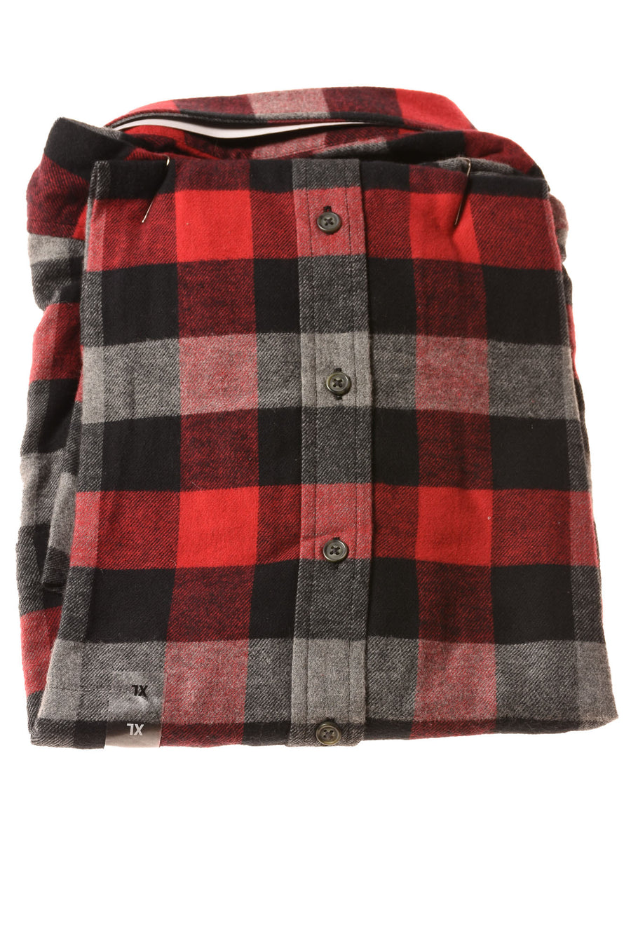 NEW Croft & Barrow Men's Shirt X-Large Red / Plaid
