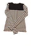 NEW J. Crew Women's Top X-Small Navy & Ivory / Striped