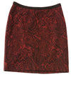 USED Rafaella Women's Skirt 8 Red & Black / Print