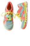 USED Reebok Women's Shoes 9 Blue & Pink & Yellow