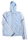USED Adidas Women's Hoodie Small Blue