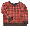 USED Forever 21 Women's Top Small Red / Plaid