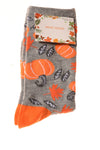 NEW No Brand Women's Socks 9-11 Gray & Orange