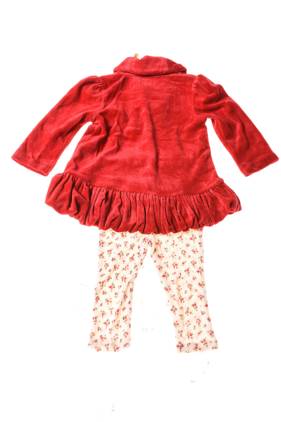 USED Ralph Lauren Baby Girl's Outfit 12 Months Red & Floral Print