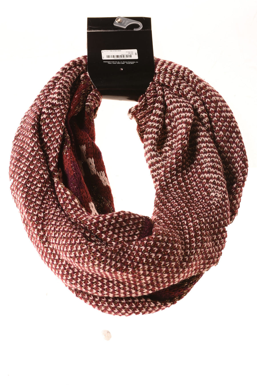 NEW Mix It Women's Scarf One Size Merlot Rose Smoke