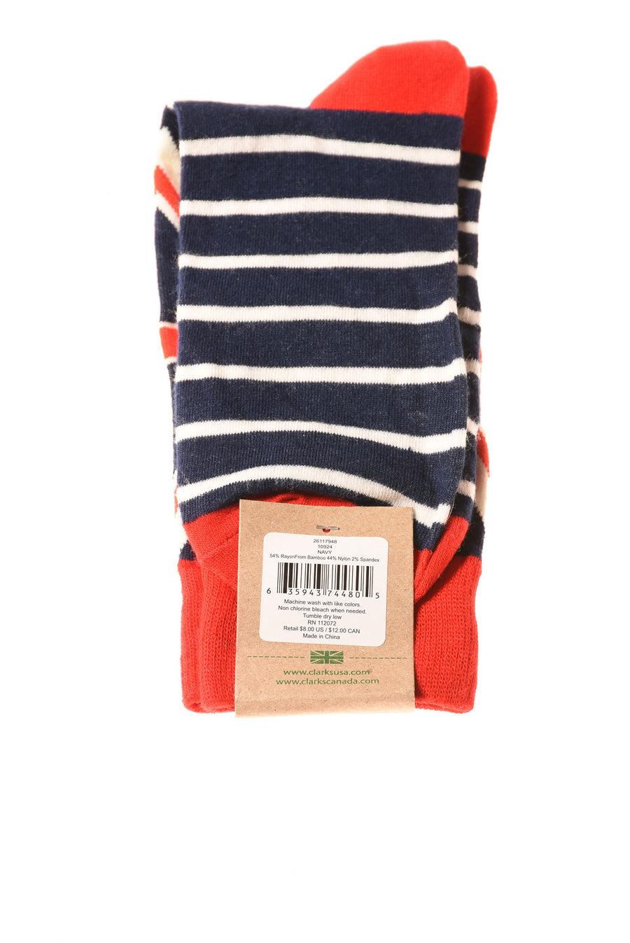 NEW Clarks Men's Socks One Size Navy