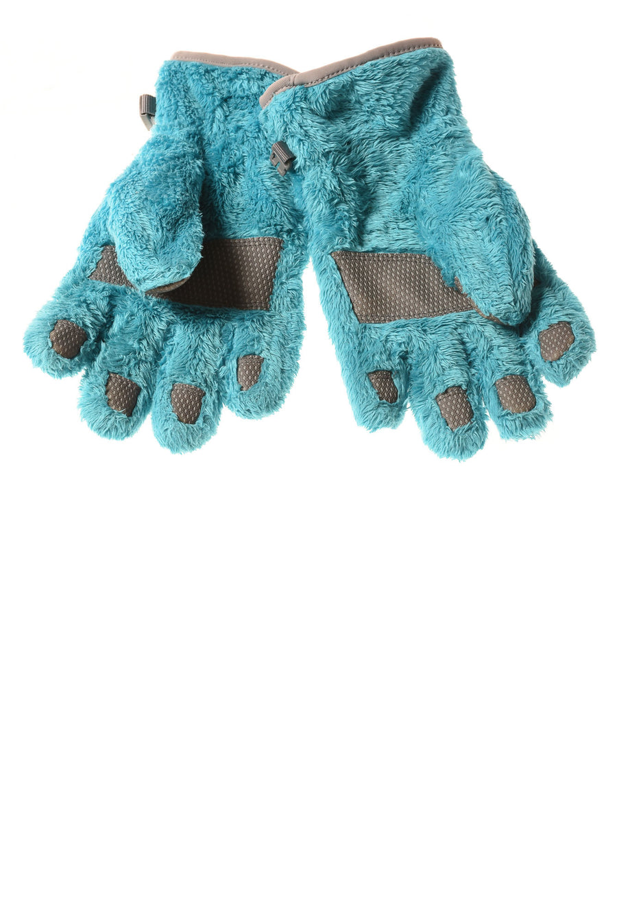 USED The North Face Women's Gloves Medium Blue & Gray