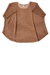 USED Catherines Women's Top 2X Brown